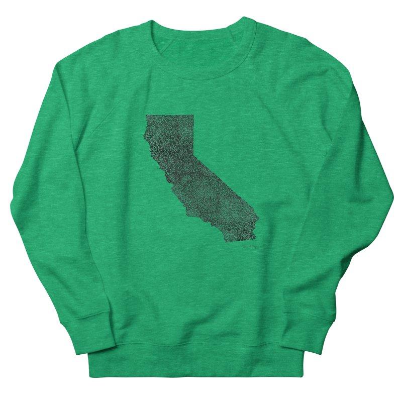 California - One Continuous Line Women's Sweatshirt by Daniel Dugan's Artist Shop