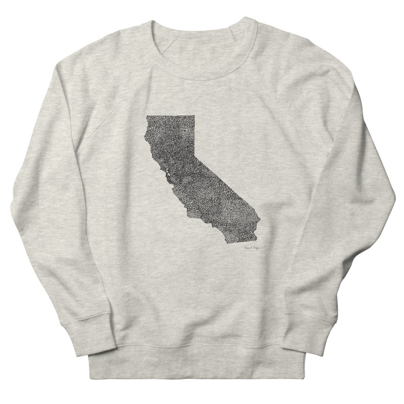 California - One Continuous Line Women's French Terry Sweatshirt by Daniel Dugan's Artist Shop
