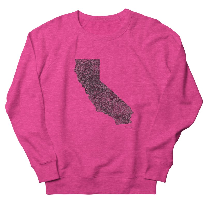 California - One Continuous Line Men's French Terry Sweatshirt by Daniel Dugan's Artist Shop