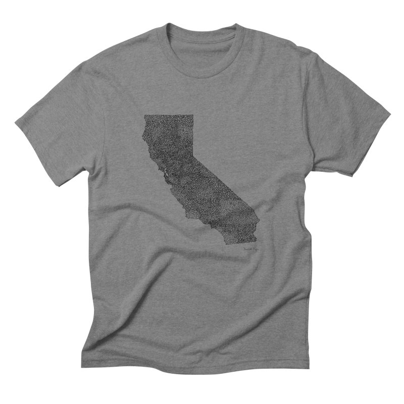 California - One Continuous Line Men's Triblend T-Shirt by Daniel Dugan's Artist Shop