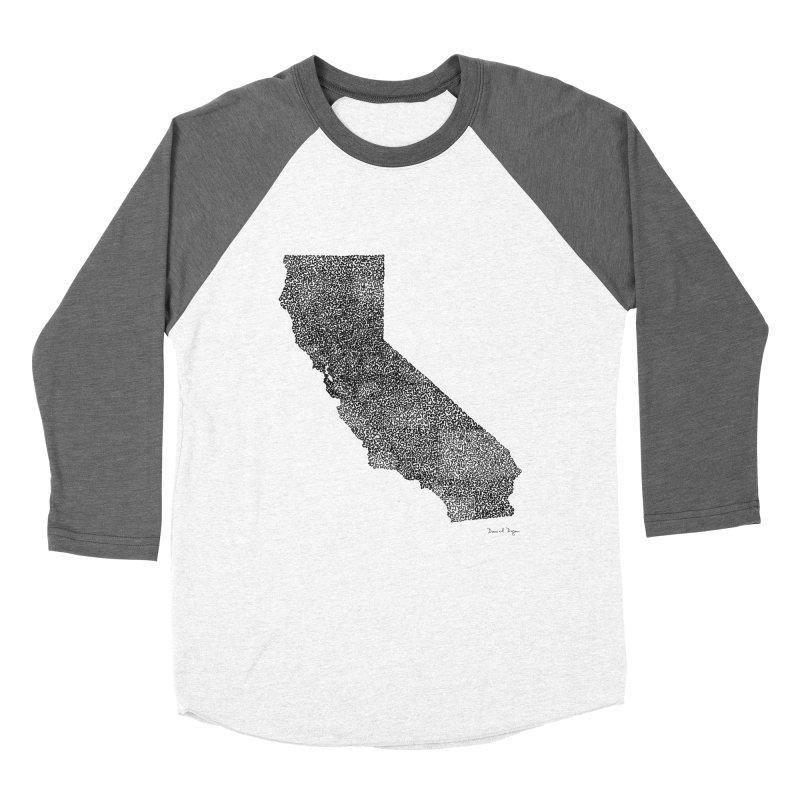 California - One Continuous Line Men's Baseball Triblend T-Shirt by Daniel Dugan's Artist Shop