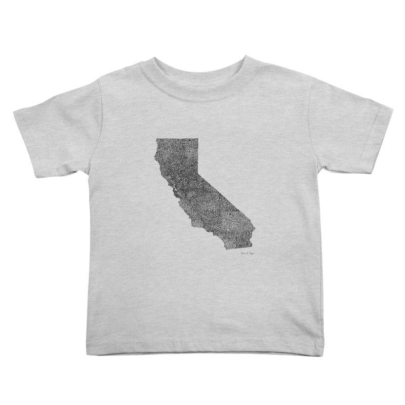 California - One Continuous Line Kids Toddler T-Shirt by Daniel Dugan's Artist Shop