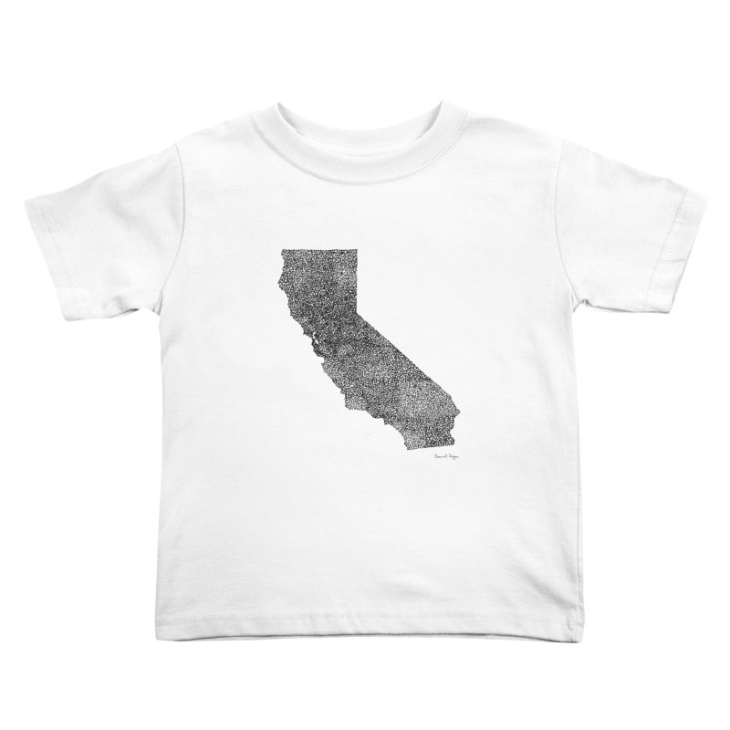 California - One Continuous Line Kids Toddler T-Shirt by Daniel Dugan's Artist Shop