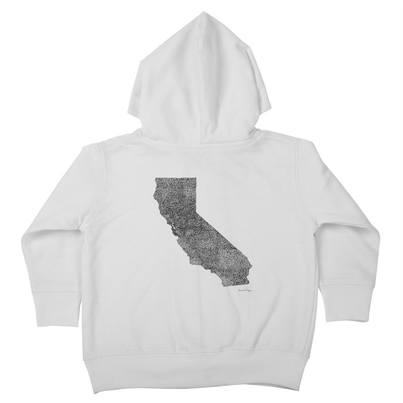 California - One Continuous Line Kids Toddler Zip-Up Hoody by Daniel Dugan's Artist Shop