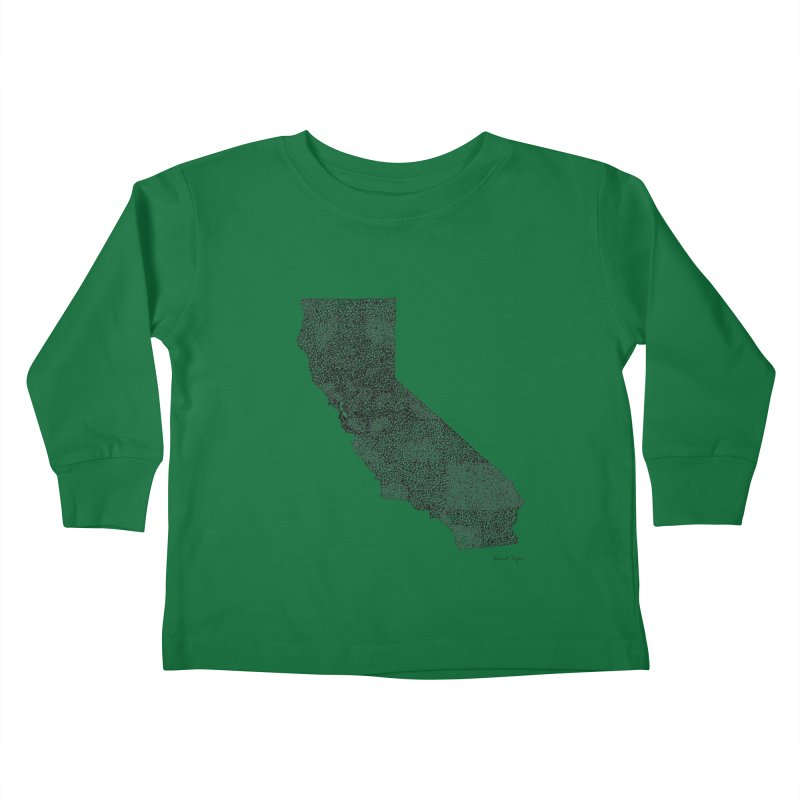 California - One Continuous Line Kids Toddler Longsleeve T-Shirt by Daniel Dugan's Artist Shop