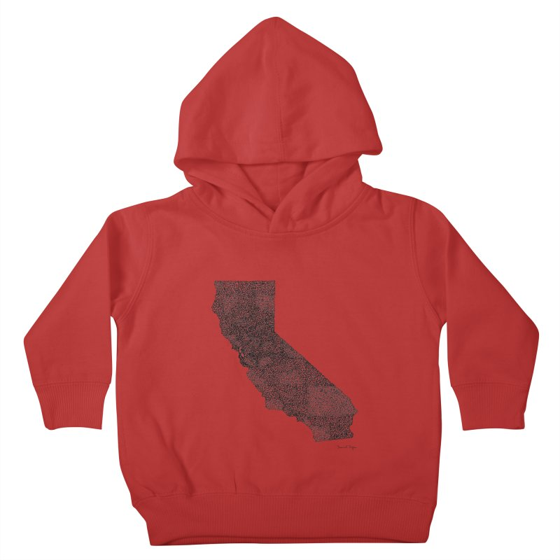 California - One Continuous Line Kids Toddler Pullover Hoody by Daniel Dugan's Artist Shop