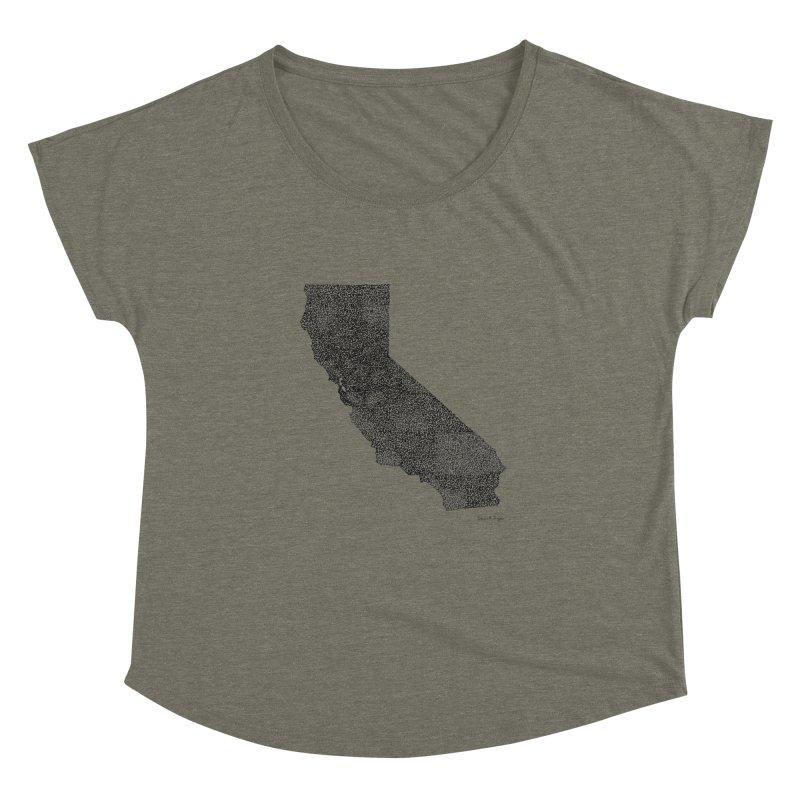 California - One Continuous Line Women's Dolman by Daniel Dugan's Artist Shop