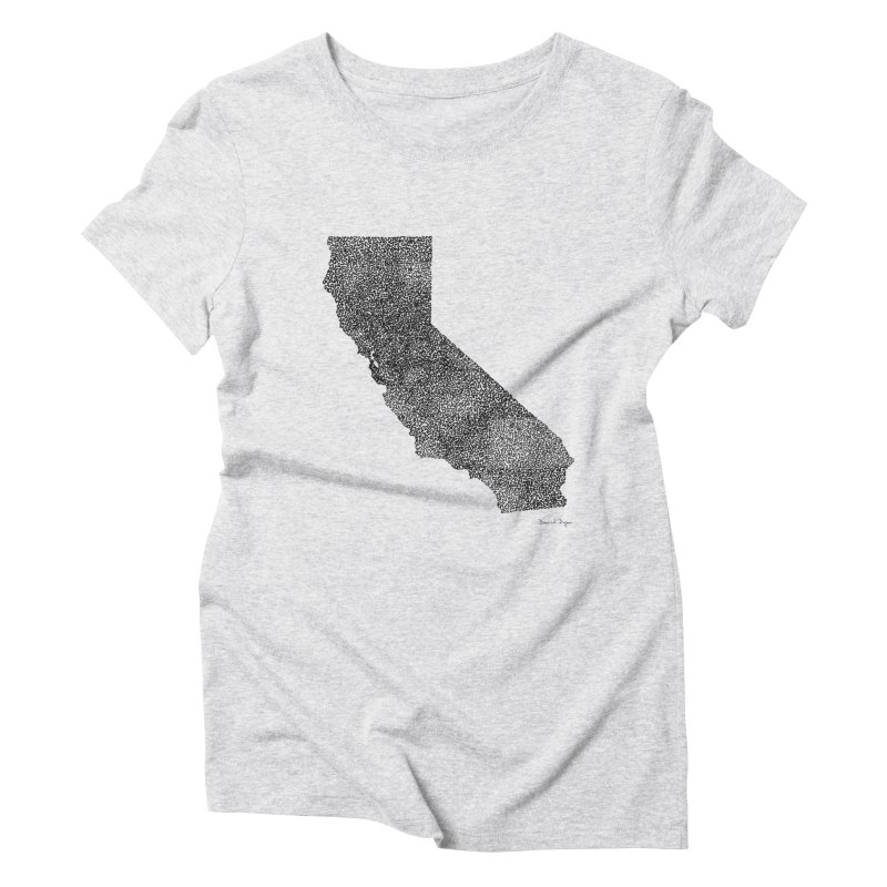 California - One Continuous Line Women's Triblend T-Shirt by Daniel Dugan's Artist Shop
