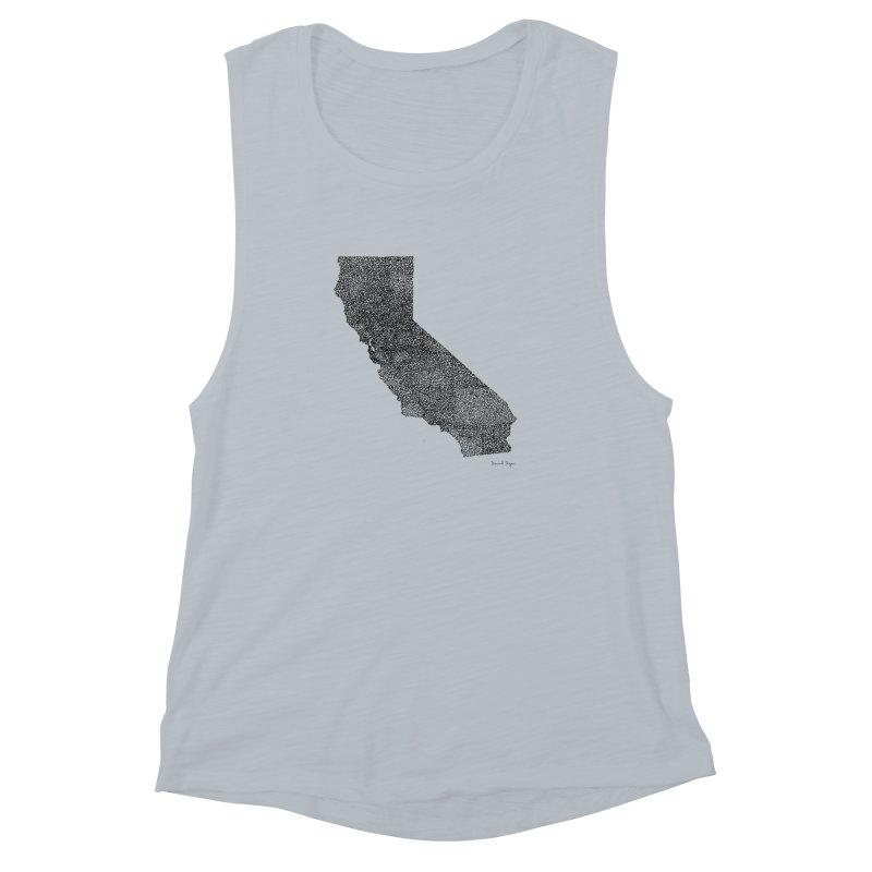 California - One Continuous Line Women's Muscle Tank by Daniel Dugan's Artist Shop