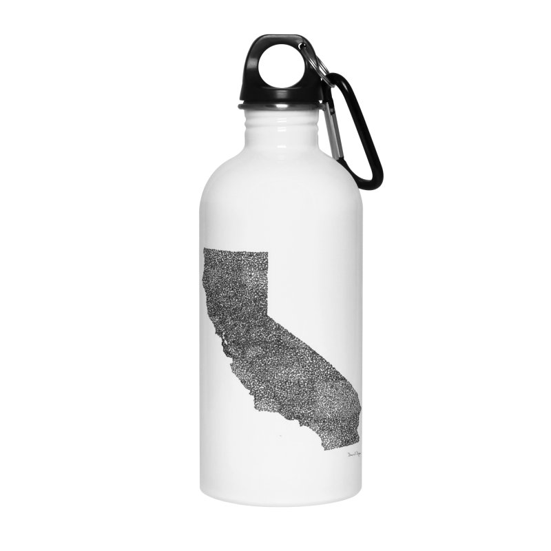 California - One Continuous Line Accessories Water Bottle by Daniel Dugan's Artist Shop