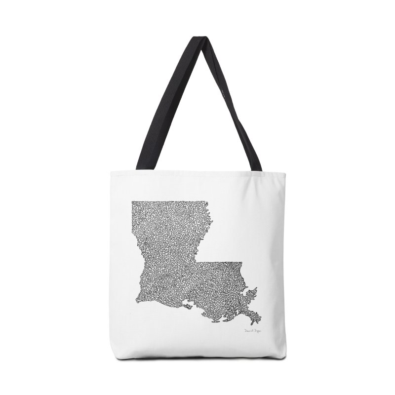 Louisiana - One Continuous Line Accessories Bag by Daniel Dugan's Artist Shop