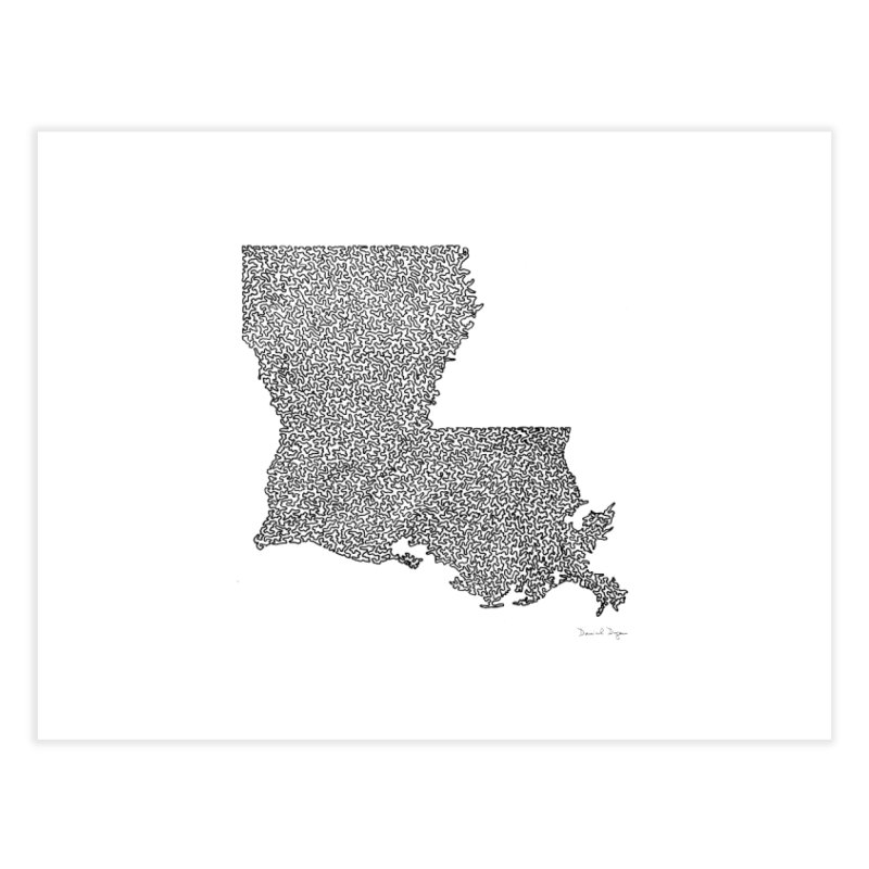 Louisiana - One Continuous Line Home Fine Art Print by Daniel Dugan's Artist Shop