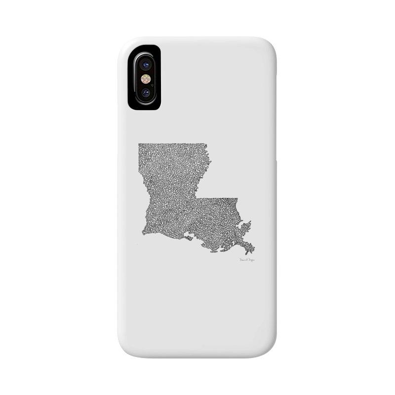 Louisiana - One Continuous Line Accessories Phone Case by Daniel Dugan's Artist Shop
