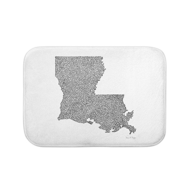 Louisiana - One Continuous Line Home Bath Mat by Daniel Dugan's Artist Shop