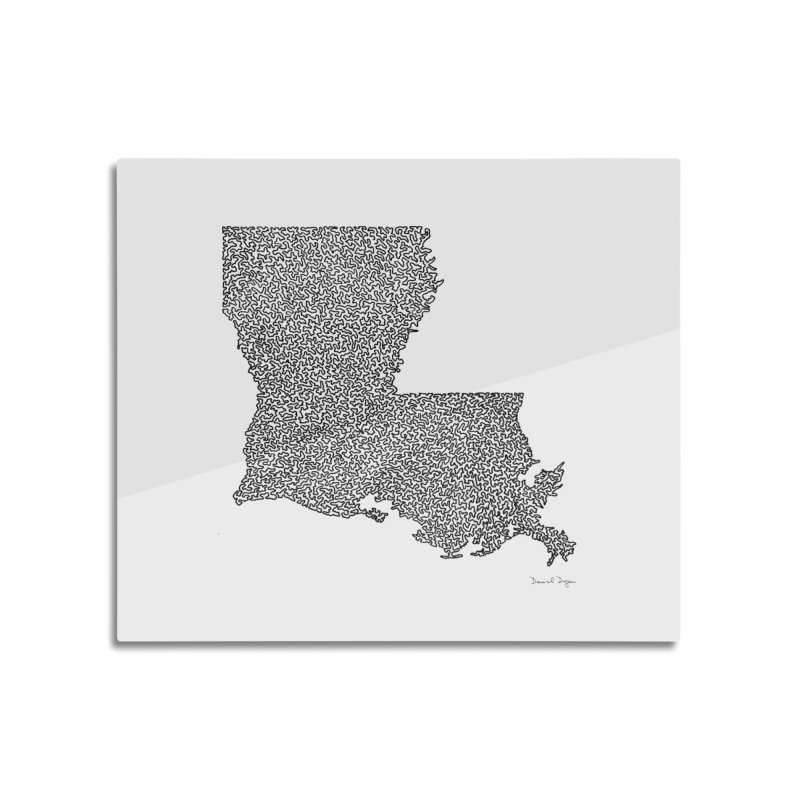 Louisiana - One Continuous Line Home Mounted Aluminum Print by Daniel Dugan's Artist Shop