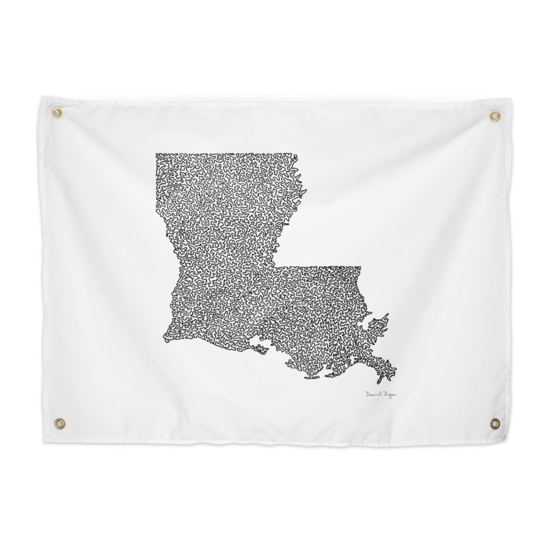 Louisiana - One Continuous Line Home Tapestry by Daniel Dugan's Artist Shop