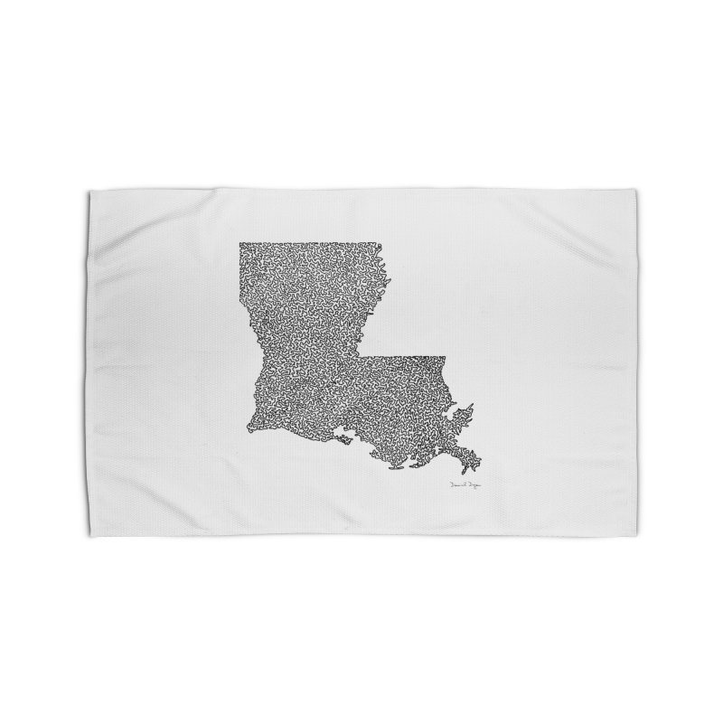 Louisiana - One Continuous Line Home Rug by Daniel Dugan's Artist Shop
