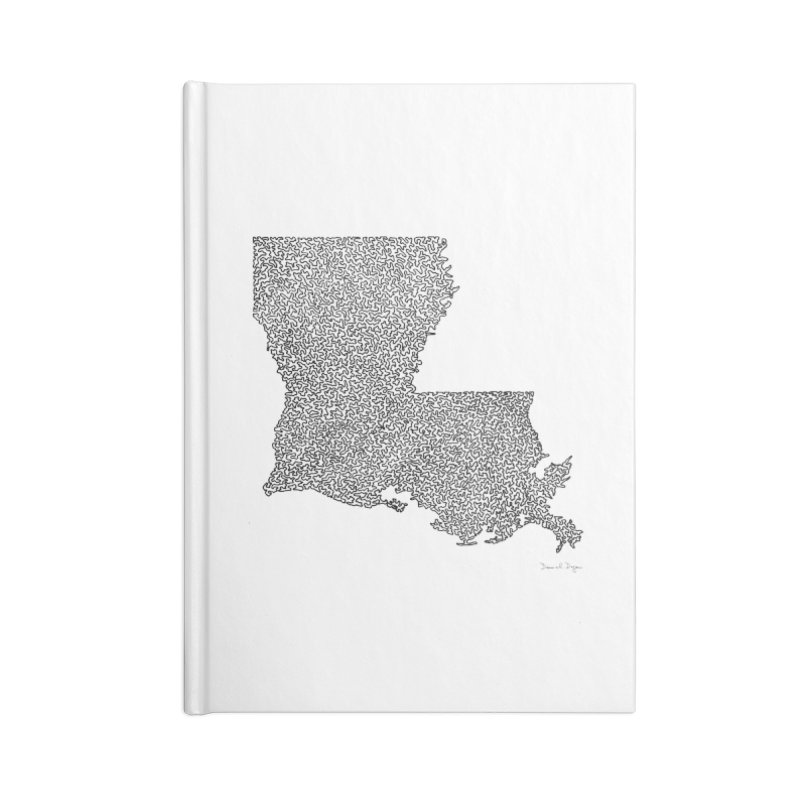 Louisiana - One Continuous Line Accessories Notebook by Daniel Dugan's Artist Shop