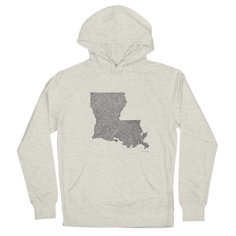 Louisiana - One Continuous Line Women's Pullover Hoody by Daniel Dugan's Artist Shop