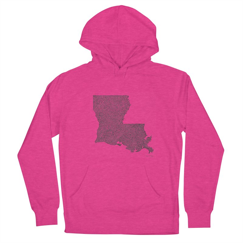 Louisiana - One Continuous Line Men's Pullover Hoody by Daniel Dugan's Artist Shop
