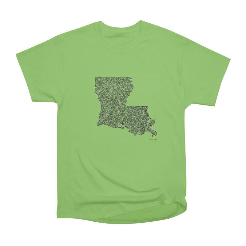 Louisiana - One Continuous Line Men's Heavyweight T-Shirt by Daniel Dugan's Artist Shop