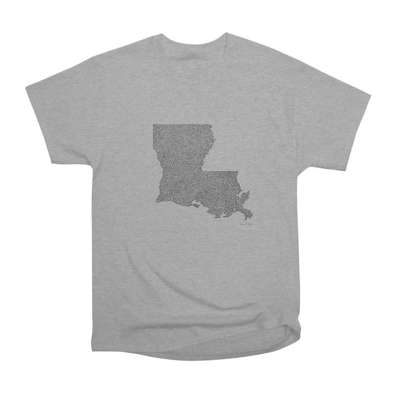 Louisiana - One Continuous Line Women's Classic Unisex T-Shirt by Daniel Dugan's Artist Shop