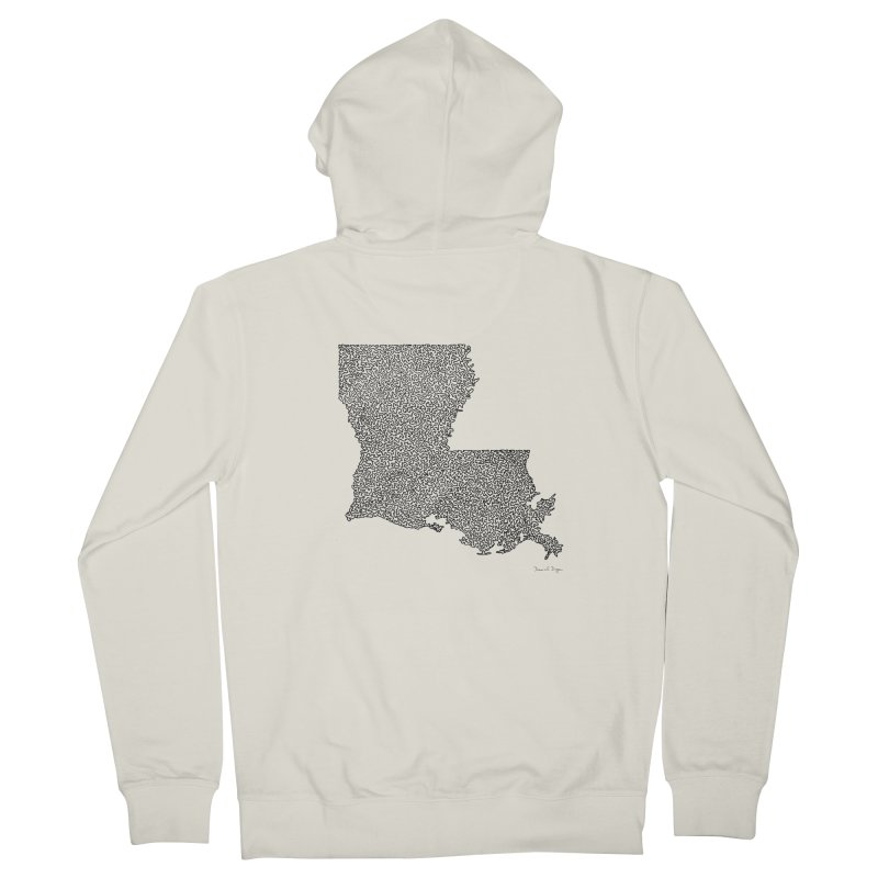 Louisiana - One Continuous Line Women's Zip-Up Hoody by Daniel Dugan's Artist Shop