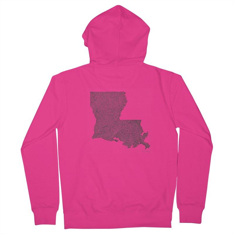 Louisiana - One Continuous Line Men's Zip-Up Hoody by Daniel Dugan's Artist Shop