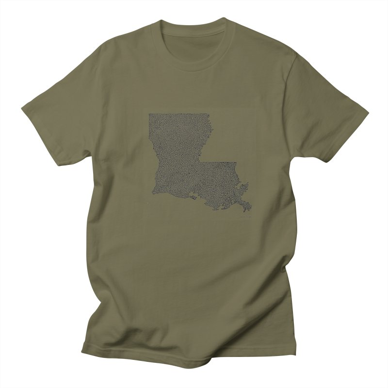 Louisiana - One Continuous Line Women's Regular Unisex T-Shirt by Daniel Dugan's Artist Shop