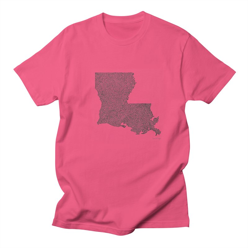 Louisiana - One Continuous Line Men's Regular T-Shirt by Daniel Dugan's Artist Shop