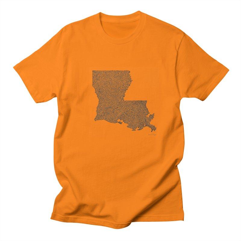 Louisiana - One Continuous Line Men's T-Shirt by Daniel Dugan's Artist Shop