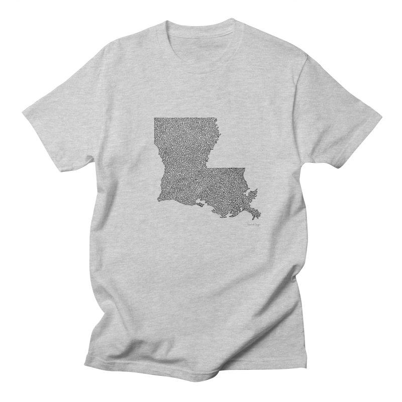 Louisiana - One Continuous Line Women's Unisex T-Shirt by Daniel Dugan's Artist Shop