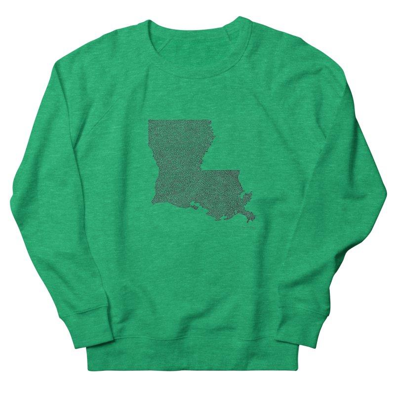 Louisiana - One Continuous Line Men's Sweatshirt by Daniel Dugan's Artist Shop