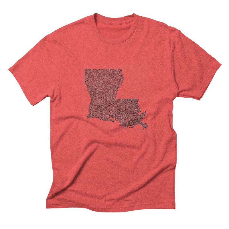 Louisiana - One Continuous Line Men's Triblend T-Shirt by Daniel Dugan's Artist Shop