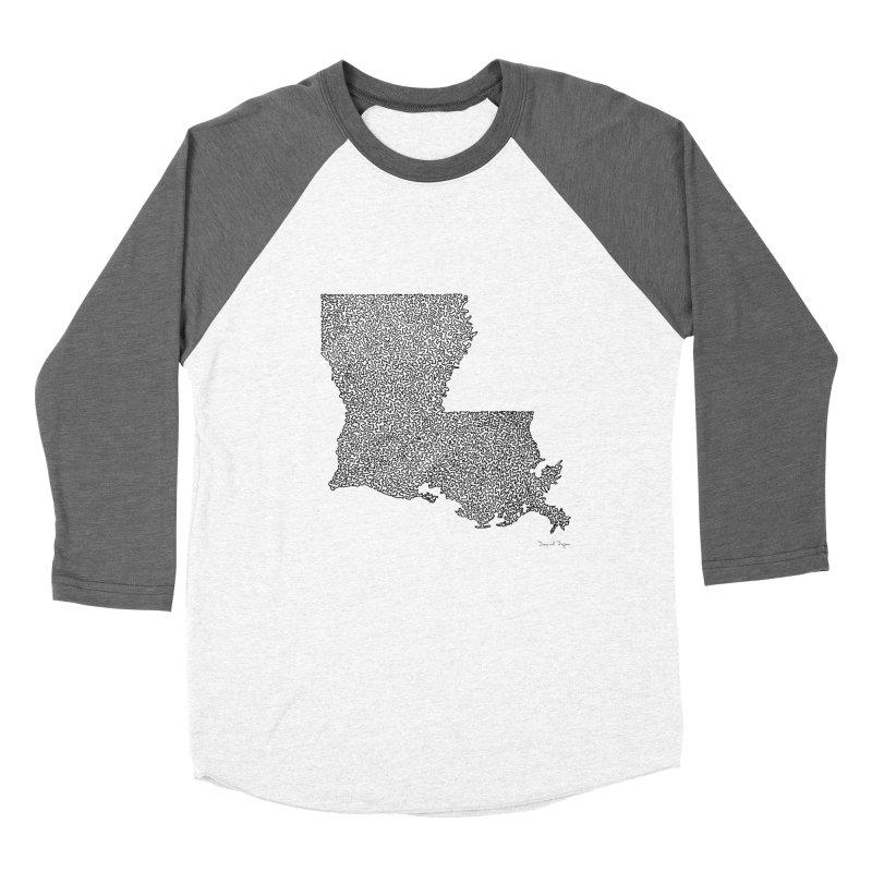 Louisiana - One Continuous Line Women's Baseball Triblend T-Shirt by Daniel Dugan's Artist Shop