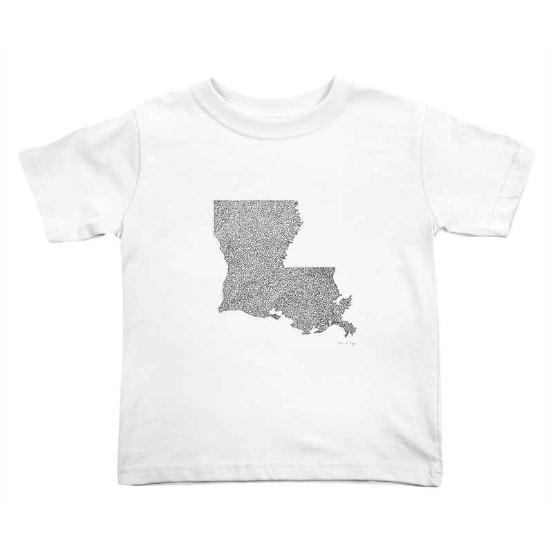Louisiana - One Continuous Line Kids Toddler T-Shirt by Daniel Dugan's Artist Shop