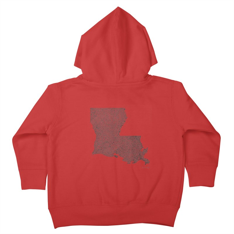 Louisiana - One Continuous Line Kids Toddler Zip-Up Hoody by Daniel Dugan's Artist Shop