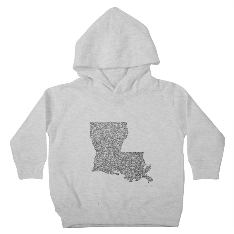 Louisiana - One Continuous Line Kids Toddler Pullover Hoody by Daniel Dugan's Artist Shop
