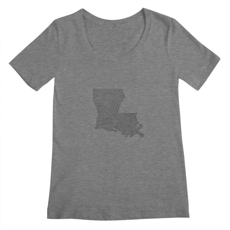 Louisiana - One Continuous Line Women's Scoopneck by Daniel Dugan's Artist Shop
