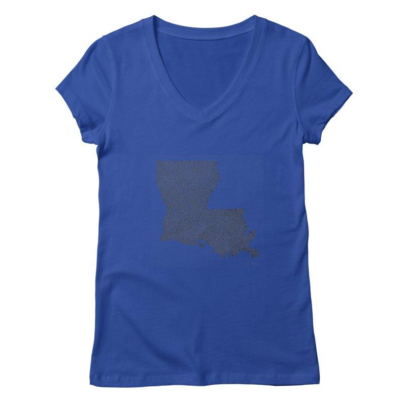 Louisiana - One Continuous Line Women's Regular V-Neck by Daniel Dugan's Artist Shop
