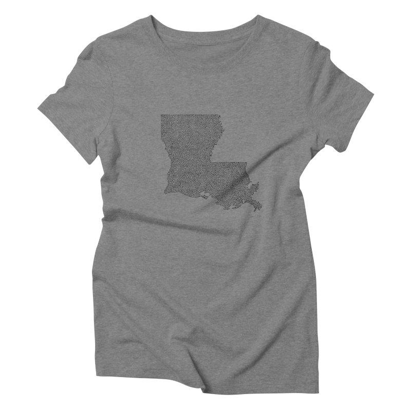 Louisiana - One Continuous Line Women's Triblend T-Shirt by Daniel Dugan's Artist Shop