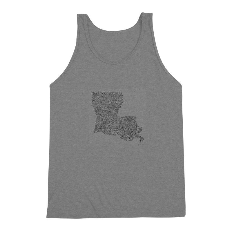 Louisiana - One Continuous Line Men's Triblend Tank by Daniel Dugan's Artist Shop