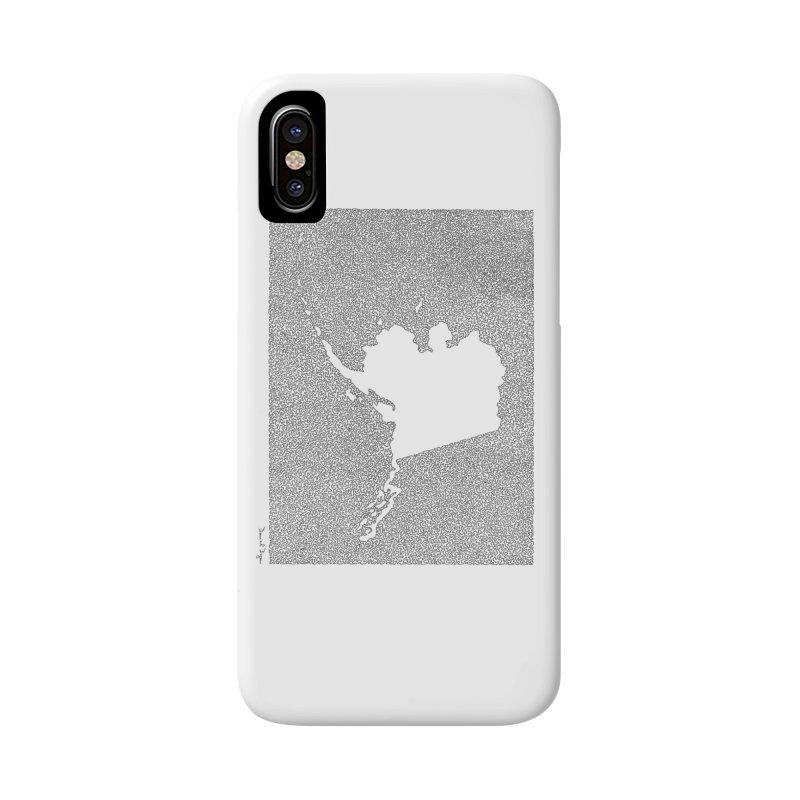 Alaska - One Continuous Line Accessories Phone Case by Daniel Dugan's Artist Shop