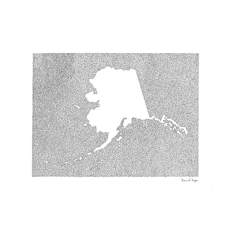 Alaska - One Continuous Line by Daniel Dugan's Artist Shop