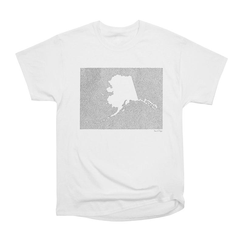 Alaska - One Continuous Line Men's Heavyweight T-Shirt by Daniel Dugan's Artist Shop