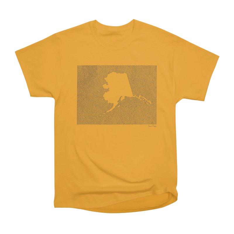 Alaska - One Continuous Line Women's Heavyweight Unisex T-Shirt by Daniel Dugan's Artist Shop