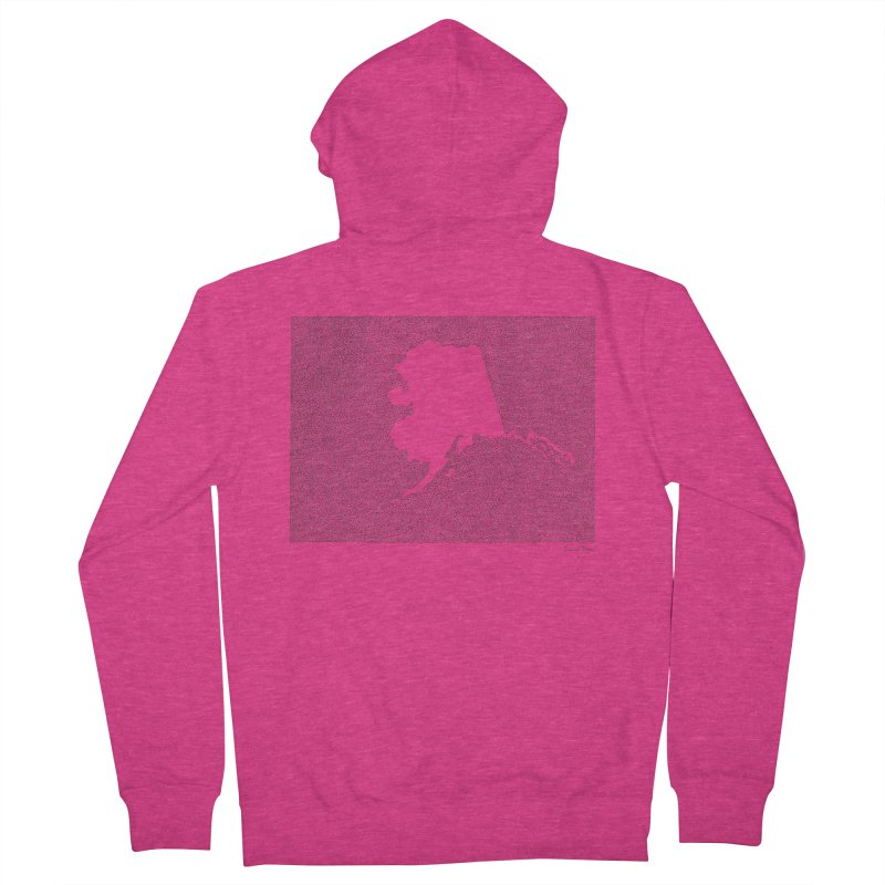 Alaska - One Continuous Line Women's Zip-Up Hoody by Daniel Dugan's Artist Shop