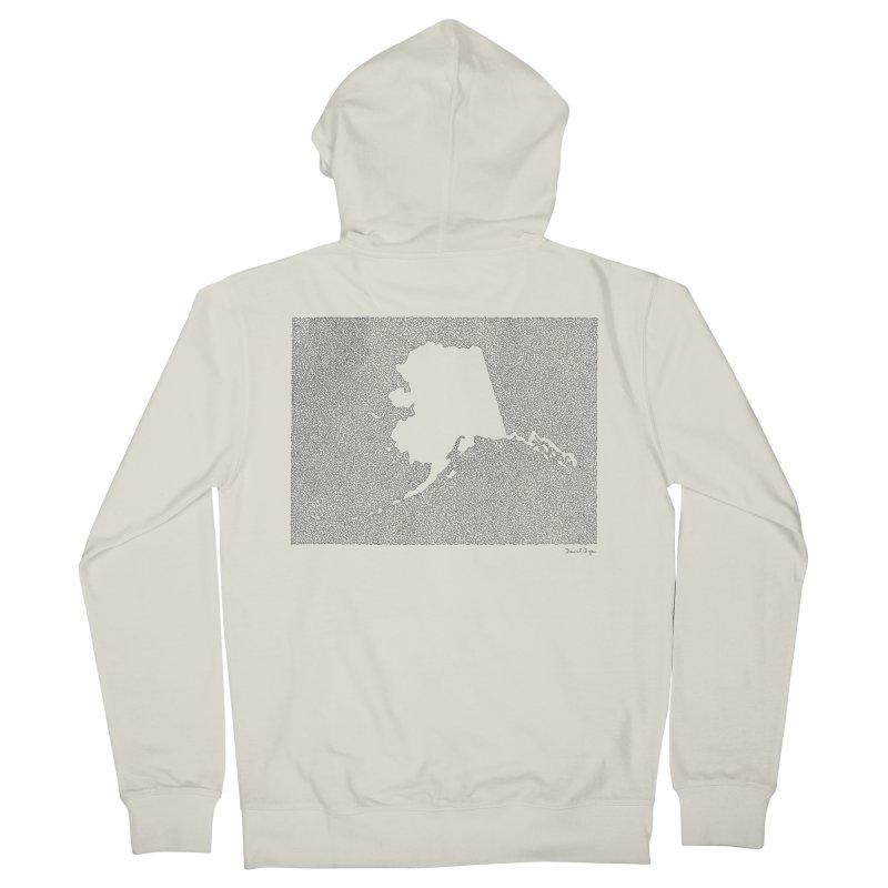 Alaska - One Continuous Line Men's Zip-Up Hoody by Daniel Dugan's Artist Shop