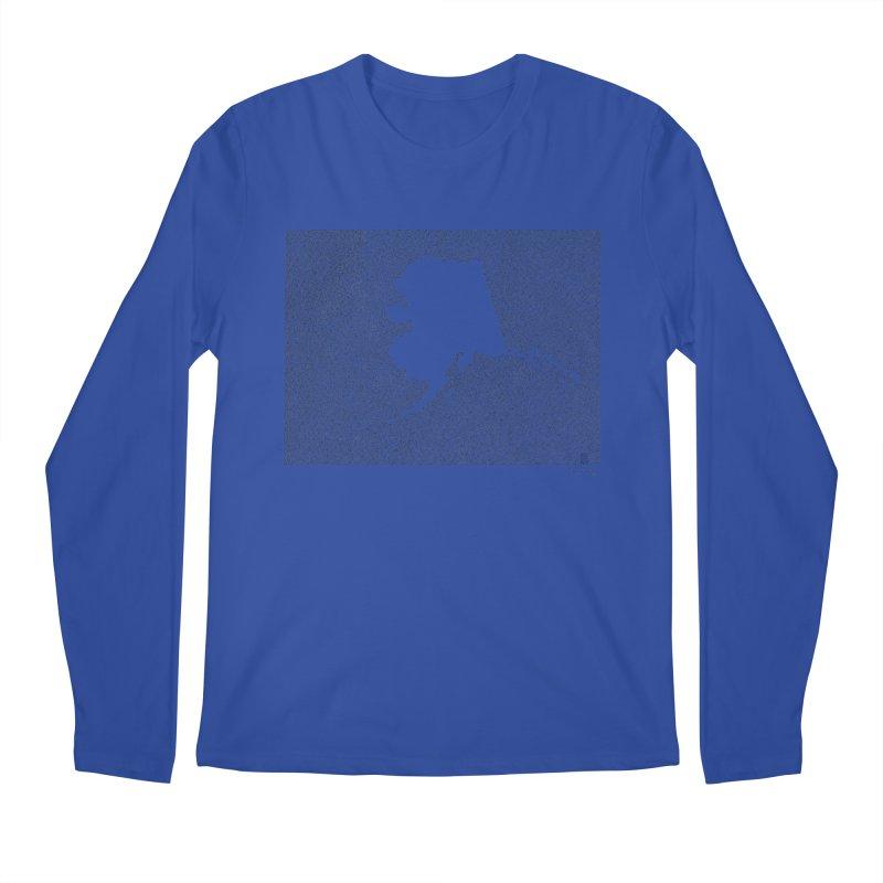 Alaska - One Continuous Line Men's Longsleeve T-Shirt by Daniel Dugan's Artist Shop