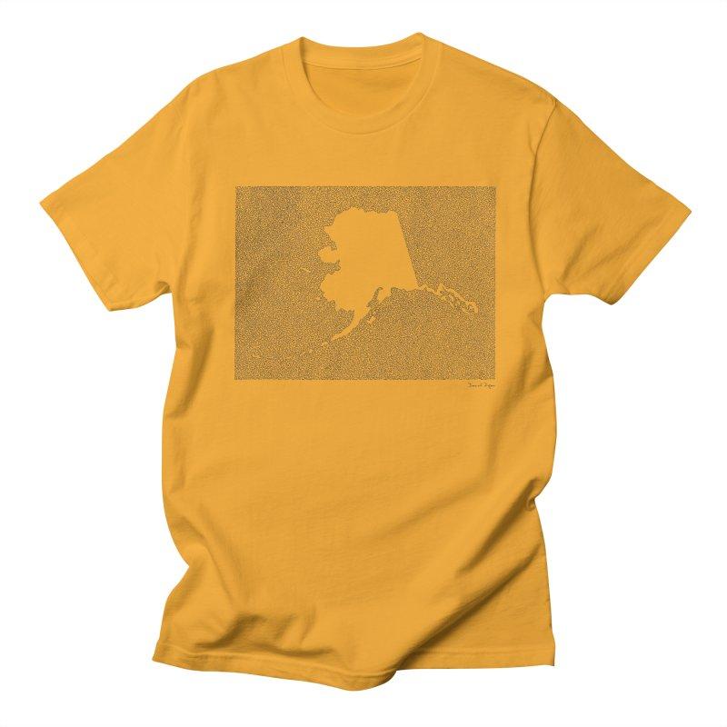 Alaska - One Continuous Line Men's T-Shirt by Daniel Dugan's Artist Shop